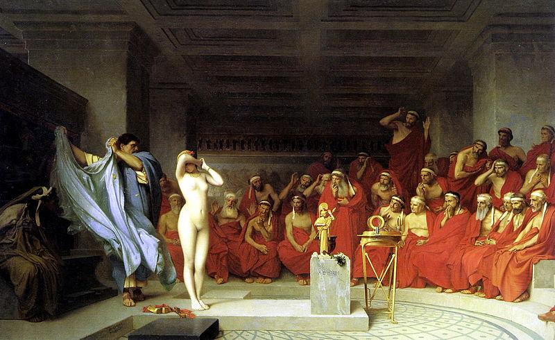 File:Jean-Lйon Gйrфme, Phryne revealed before the Areopagus (1861) - 01.jpg