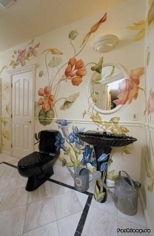 Рисунки на стену в квартире своими руками жидкими обоями