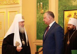 Додон: молдавская церковь сохранит свою верность
