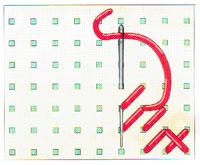 Вышивка крестиком по диагонали. Двойная диагональ справа налево (фото 5)