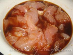 Куриный шашлык с ананасом шаг3