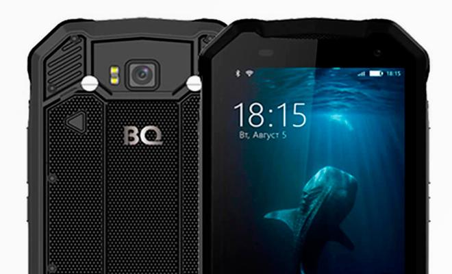 BQ-5033 Shark: новый ударопрочный смартфон с повышенной влагозащитой