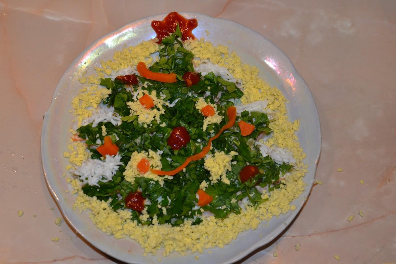 Украшение на салаты фото с описанием и