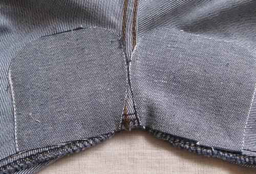 Как можно вручную пришить заплатку на джинсы или локти?