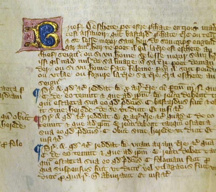 Фрагмент «Великой хартии вольностей», изданной в 1300 году.