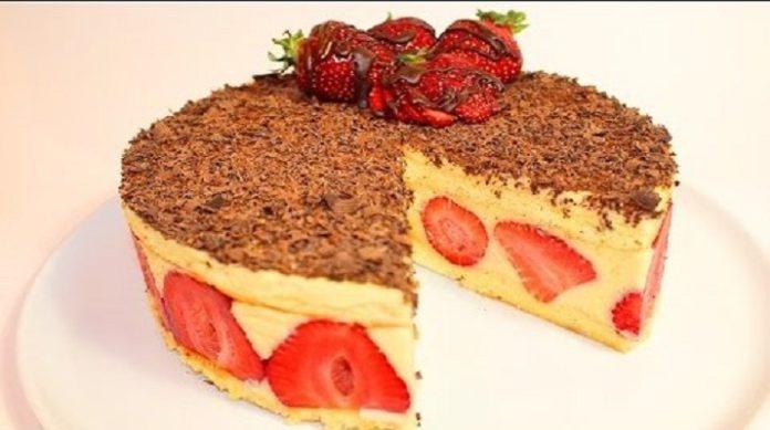 Клубничный чудо-торт
