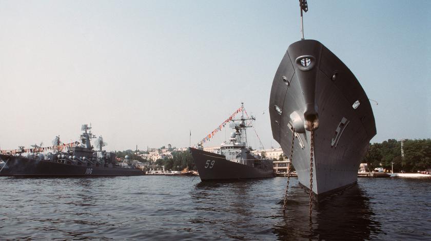 """Крейсер """"Москва"""" идет в Крым"""