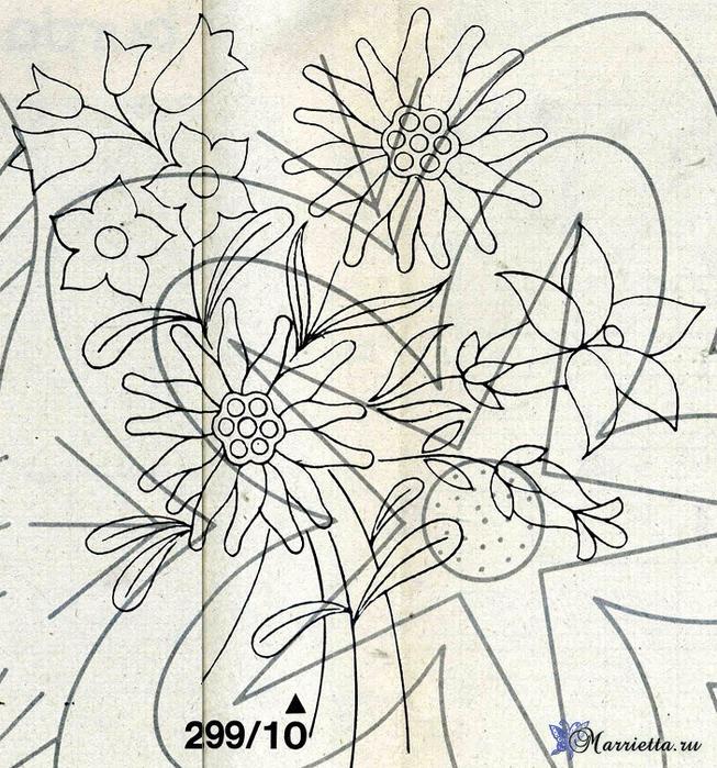 Ромашки на скатерти. Вышивка гладью (4) (653x700, 564Kb)