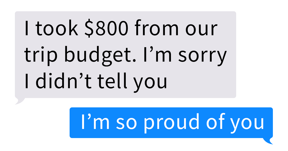 Husband Texts Wife He Spent $800 From Their Vacation Budget On His Student After Noticing His Clothing