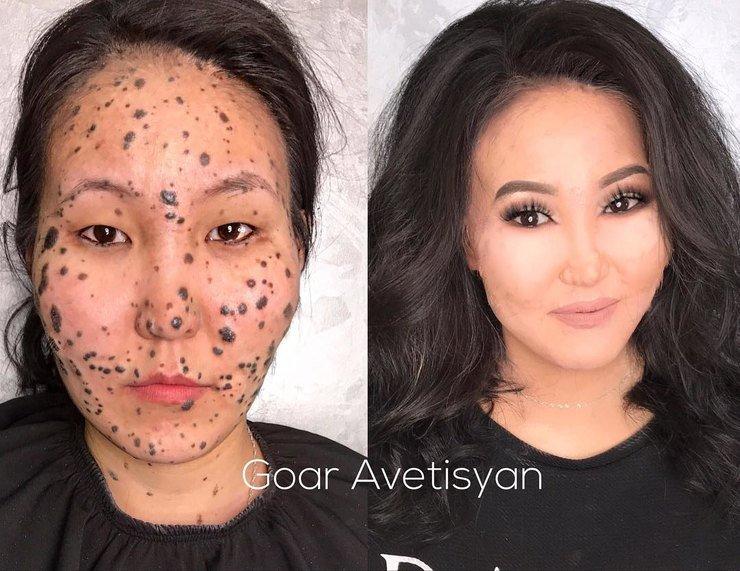 Умение профессионала без фотошопа: мейкап для трудной кожи от Гоар Аветисян