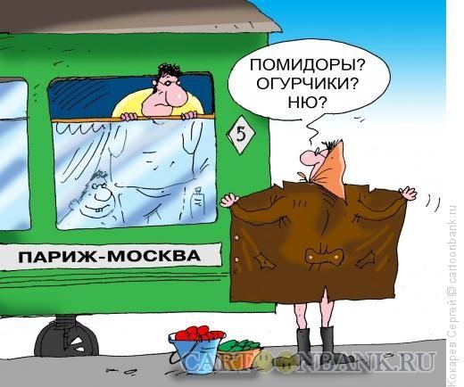 Едут в поезде Русский и Австралиец