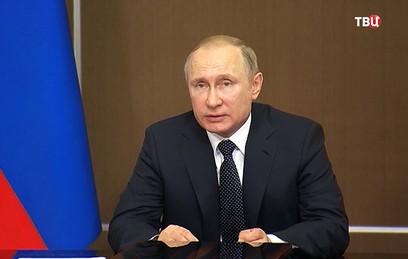 Путин посетит места природных пожаров в Сибири