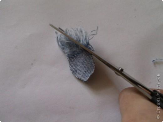Мастер-класс Вырезание: Цветок из джинса №2+МК Ткань. Фото 6