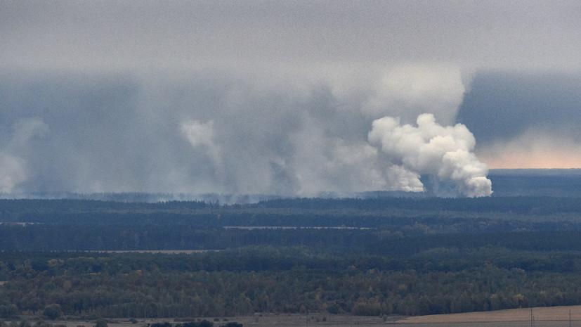 На арсенале под Черниговом возросла интенсивность взрывов