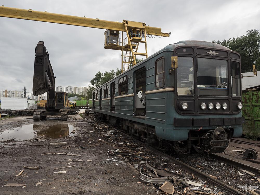 Как умирают вагоны московского метро