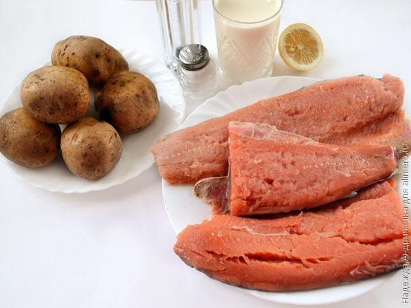 Филе горбуши на картофельной подушке