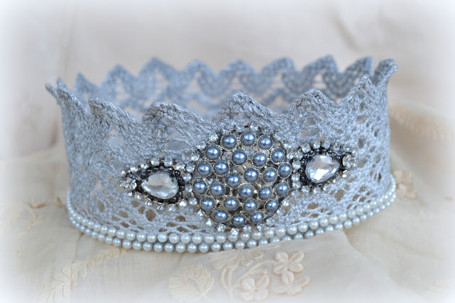 lace tiara tutorial how to make easy party 4608x3072 (640x426, 73Kb)