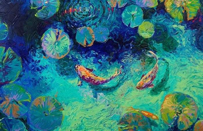 Живопись на кончиках пальцев: Потрясающие картины  созданные без кисти