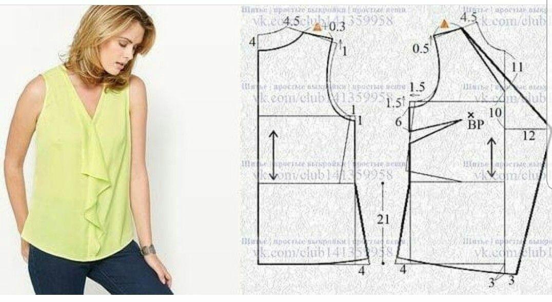 Интересные идеи блузок и не только: с выкройками или вариантами моделирования 6