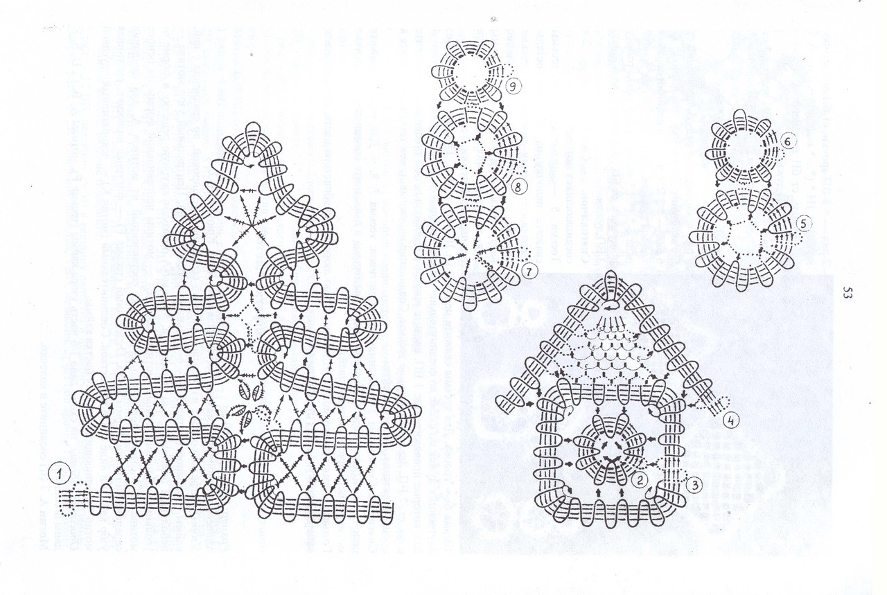 вологодской кружево схемы