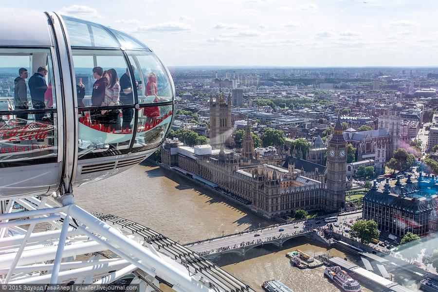 Лондонский глаз - самое высокое колесо обозрения в Европе
