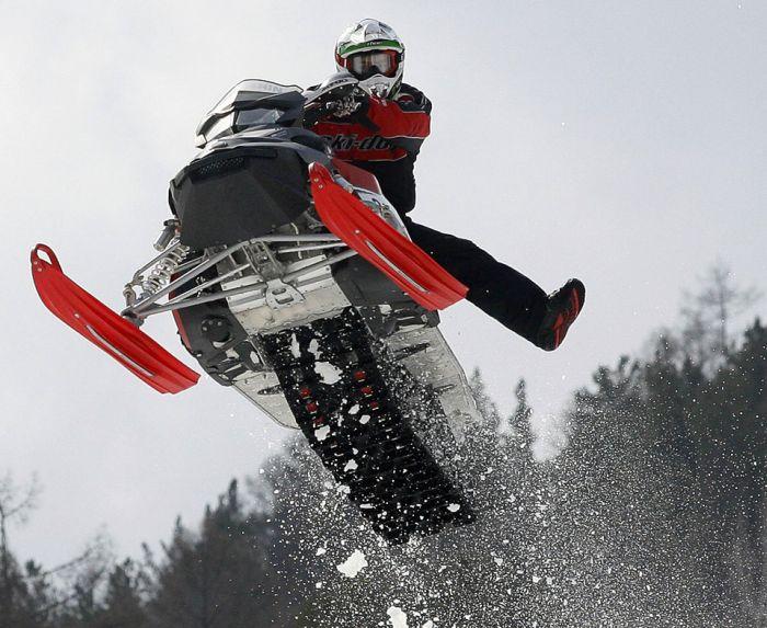 Снегоход, да он опасный!