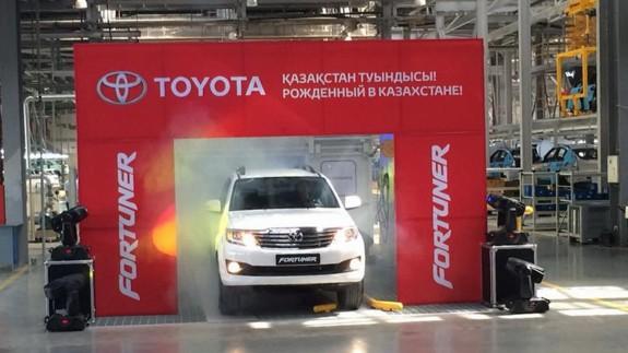 Вседорожники Toyota Fortuner начали выпускать в Казахстане