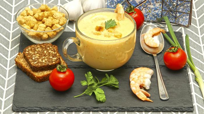 Сливочный крем-суп с морепродуктами. Суп, Криветка, Видео рецепт, Крем-Суп, Морепродукты, Рыба, Кулинария, Видео