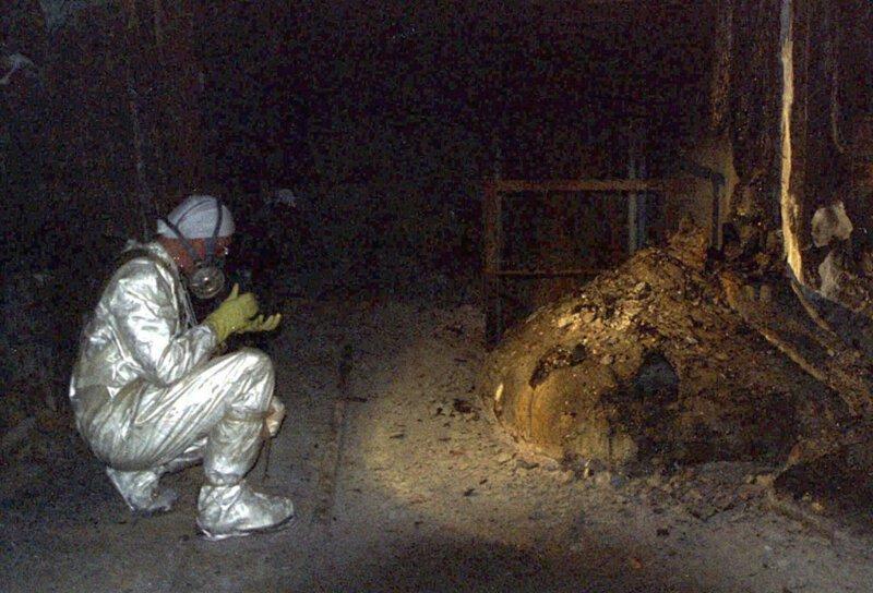 """На фото кориум Чернобыля (где он был впервые зафиксирован, как явление), так называемая """"Слоновья нога"""" аэс, интересное, радиация, теперь ты знаешь больше, уран, факты"""
