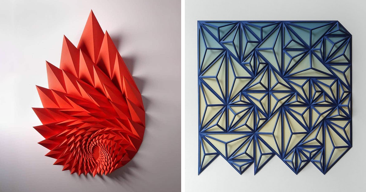 Engineer Turns Simple Sheets Of Paper Into Stunning Geometric Art (30 Pics)