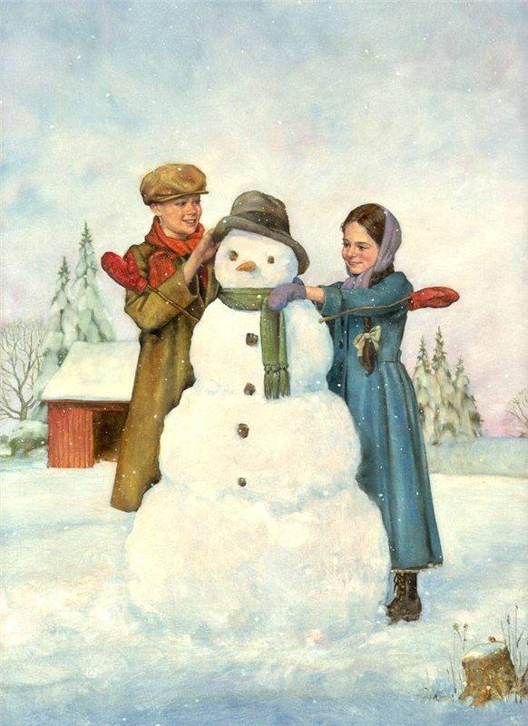 Пришло время... лепить снеговика!