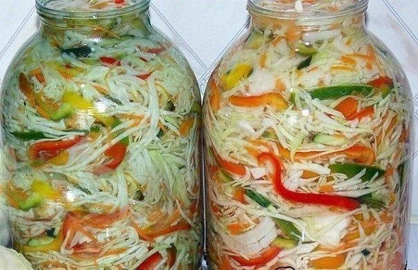 5 вкуснейших рецептов салатиков из капусты на зиму