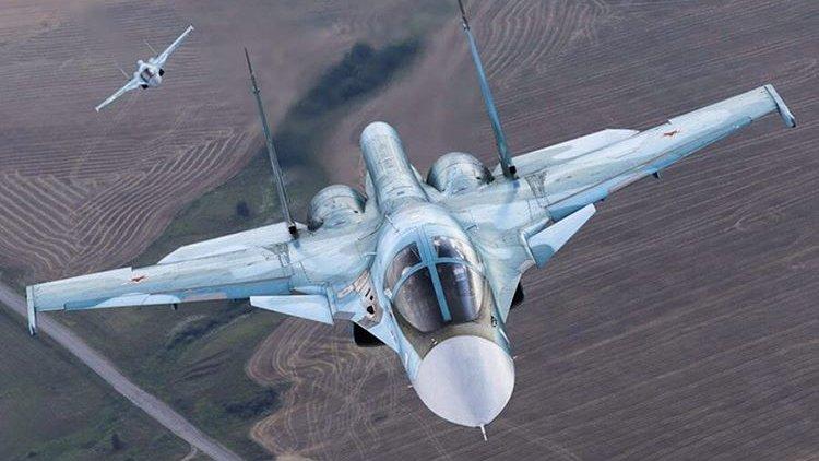 Посадку истребителя Су-34 показали на видео