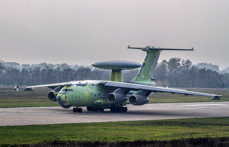 Первый полет опытного образца нового самолета радиолокационного дозора и наведения А-100