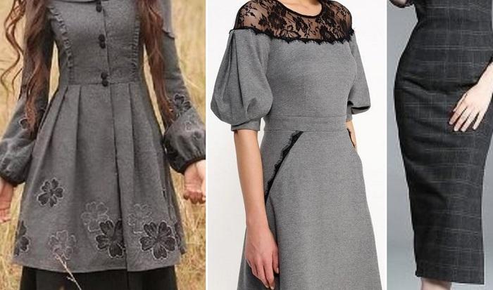 платья с кружевом и фатином