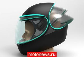 Интересный концепт мотоциклетного шлема С-Through
