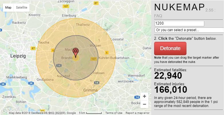 США: рассекреченно 1100 ядерных целей на карте 1956 года