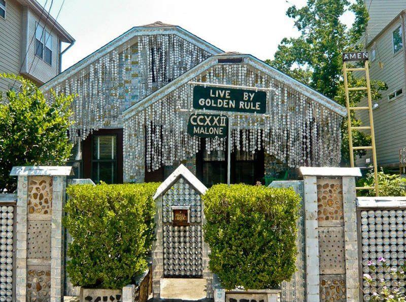 дом из жестяных банок