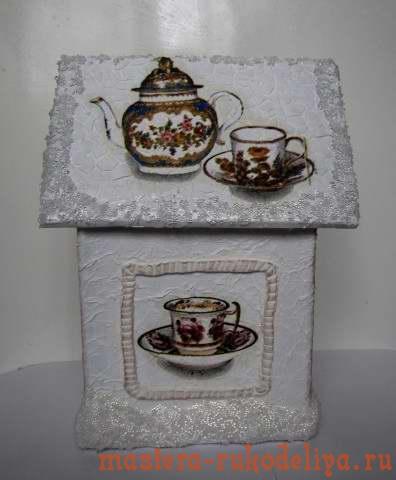 """""""Зимний"""" домик для чайных пакетиков"""