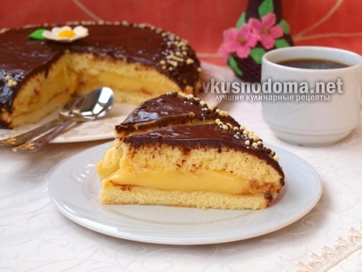 Торт «Чародейка» с бананом и шоколадом