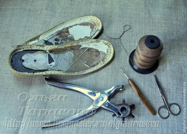 Вязаные сандалии