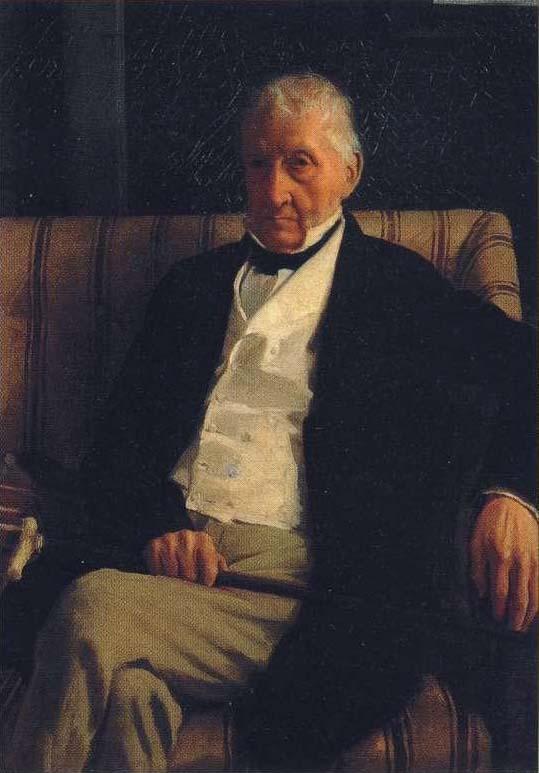 Парадный портрет деда, Рене Илера написанный Дега в 1857 году.