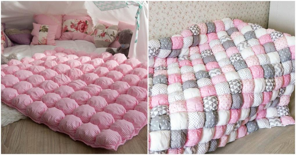 Очень красивое бомбон одеяло своими руками