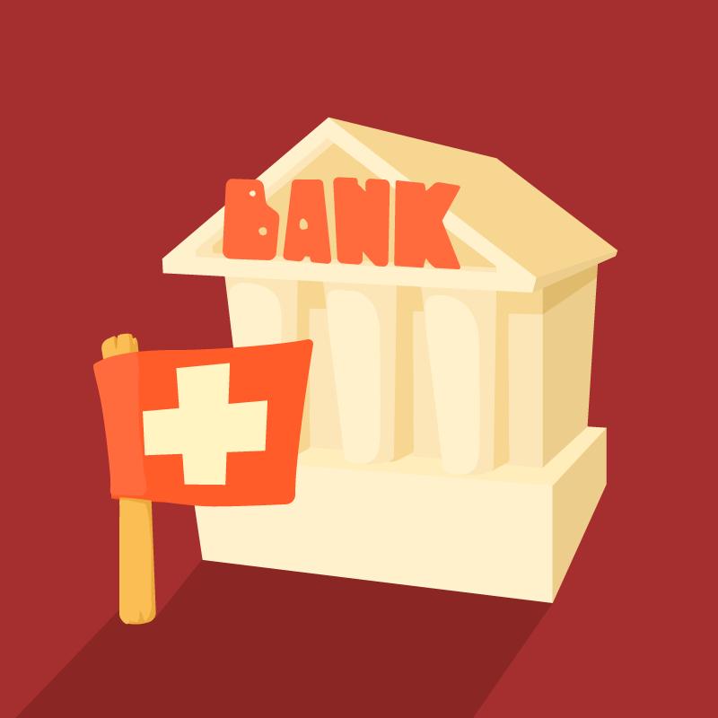 Анекдот про нового русского, который оформлял кредит вшвейцарском банке