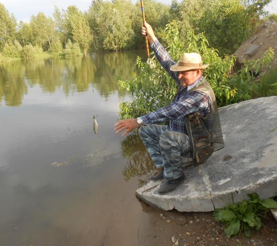 Находчивый, умелый рыбак