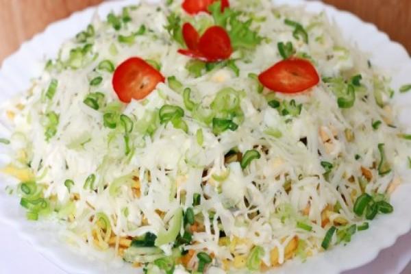 Очень вкусные салаты с картофелем фри