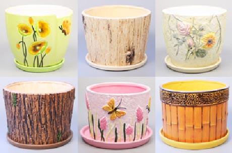 Декорируем цветочные горшки своими руками