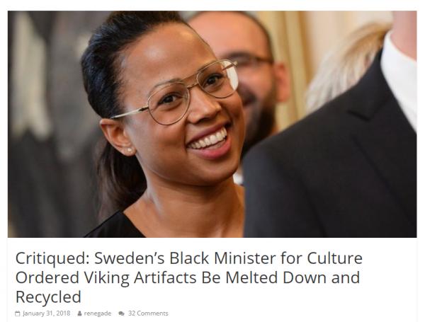 Викинги шведским неграм не нужны