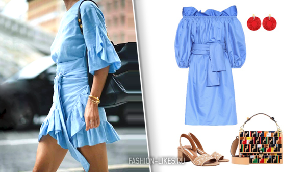 6 способов носить голубое платье, чтобы все завидовали и оборачивались