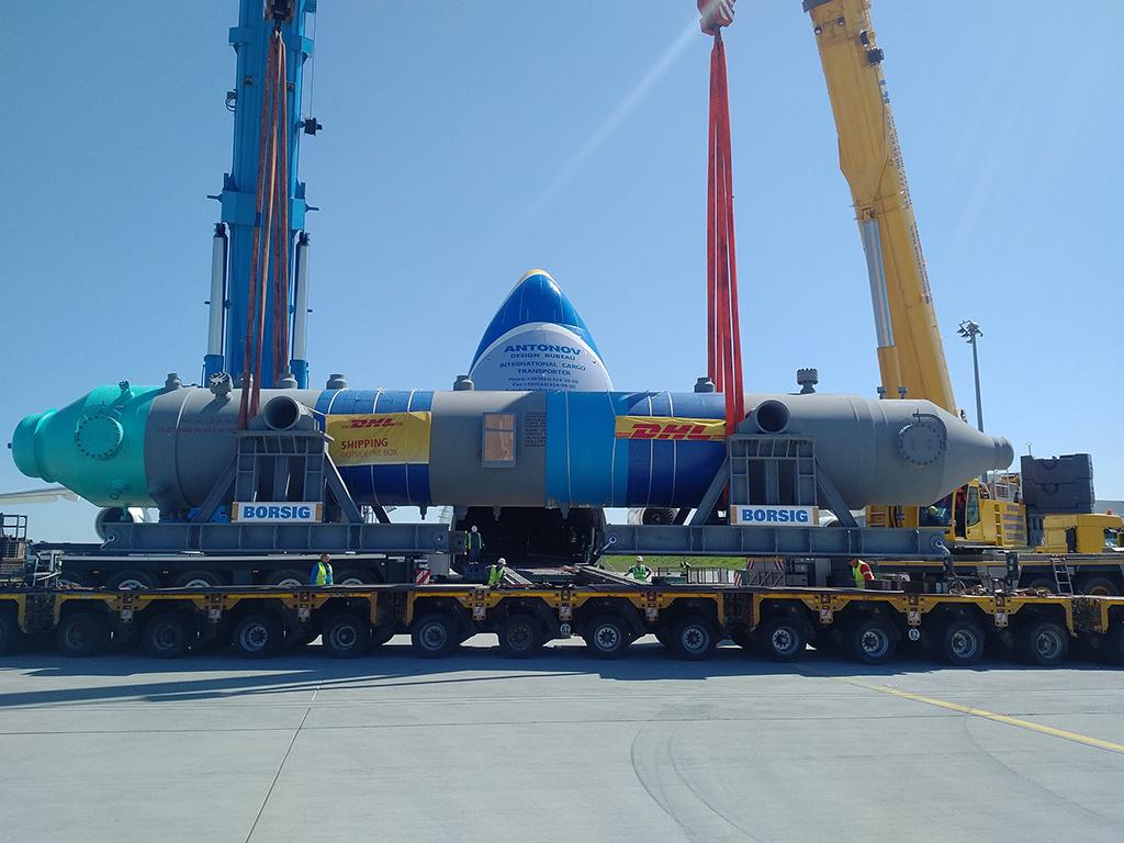 DHL транспортирует 140-тонные котлы-утилизаторы в Саудовскую Аравию на Ан-225